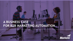 A Business Case for b2b Marketing Automation
