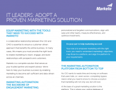 IT Leaders Adopt a Proven Marketing Solution5