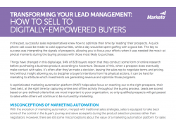 Transforming Your Lead Management How to Sell to Digitally Empowered Buyers Marketo