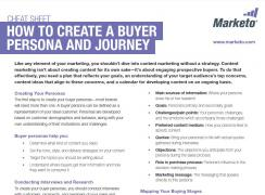 How to create a buyer persona and journey