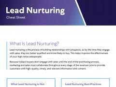 lead nurturing cheat sheet cover image 5.29.19
