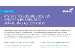 4 Steps to Ensure Success Before Implementing Marketing Automation snip