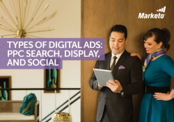 Types of Digital Ads PPC Search Display and Social