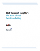 BtoB research insights the state of B2B event marketing